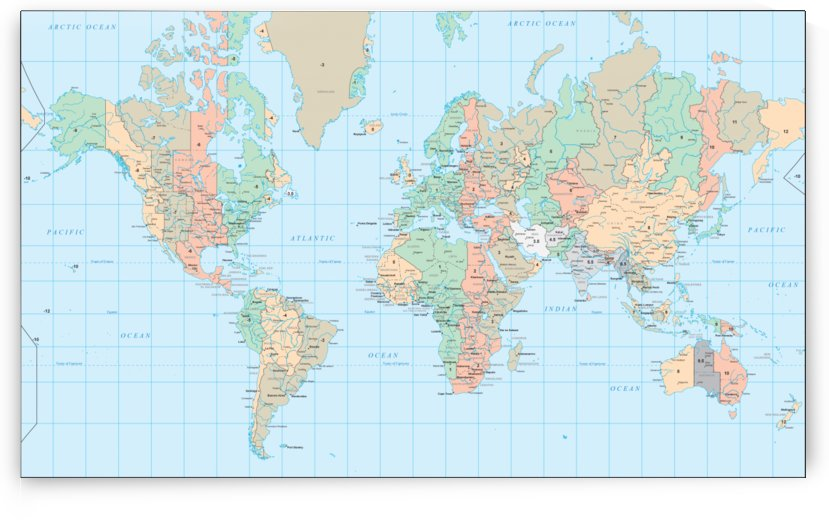 Universal World Map by WorldFlag