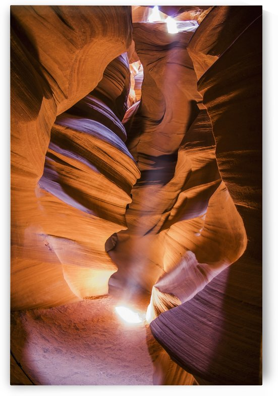 A scene in antelope canyon a narrow canyon carved out of the sandstone found on the navajo nation reservation;Page arizona united states of america by PacificStock