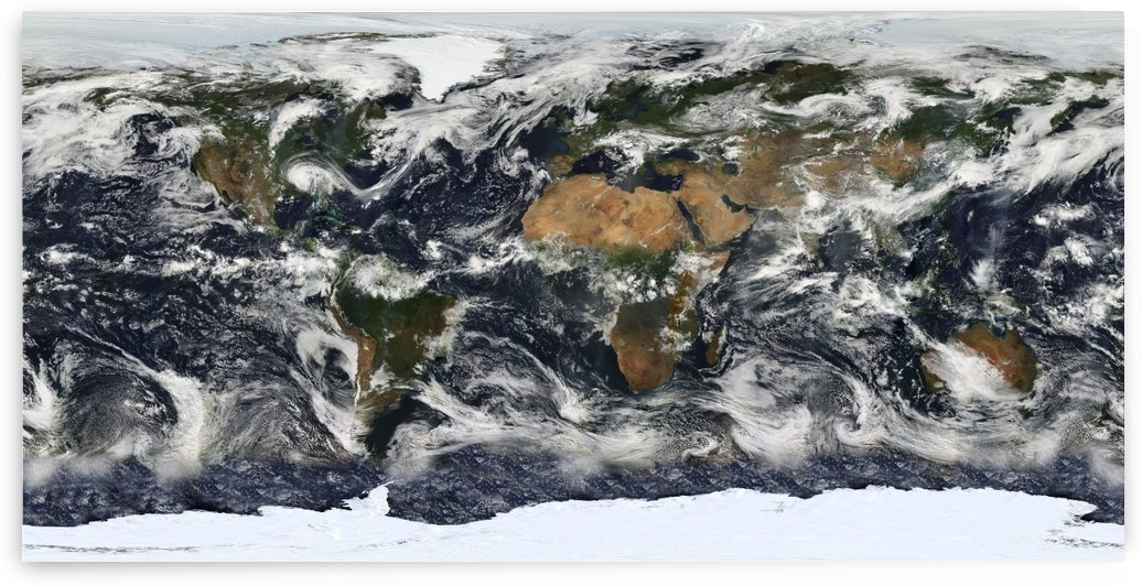 World Map Satellite by WorldFlag