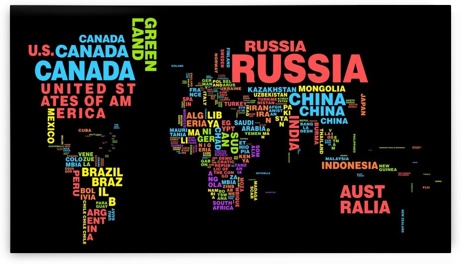 World map Country Name by WorldFlag