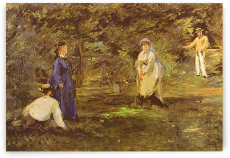 Croquet Party by Manet by Manet