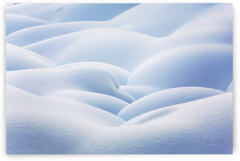 Close up of snow covered round mounds;Lake louise alberta canada by PacificStock