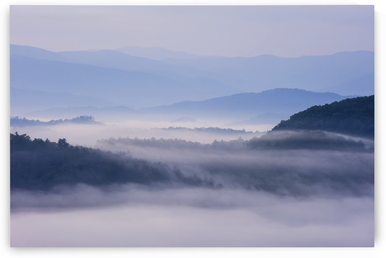 Sunrise as seen from the overlook along the foothills parkway great smoky mountains national park;Tennessee united states of america by PacificStock