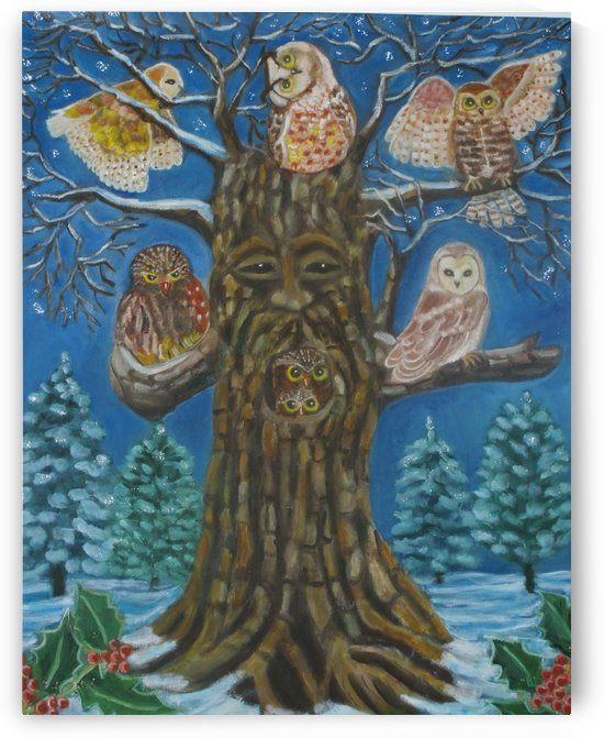 owls in winter by Gloria Gill