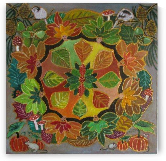 autumn mandala by Gloria Gill