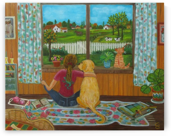 looking out the window by Gloria Gill