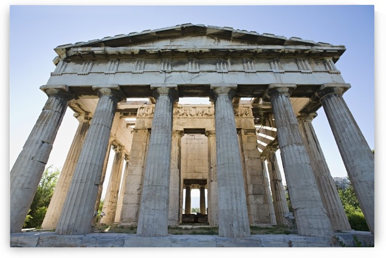 Temple of hephaestus in ancient agora of athens;Athens greece by PacificStock