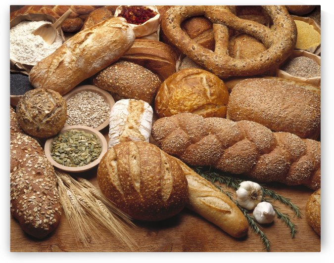 Food - Various types of breads and some of their ingredients. by PacificStock