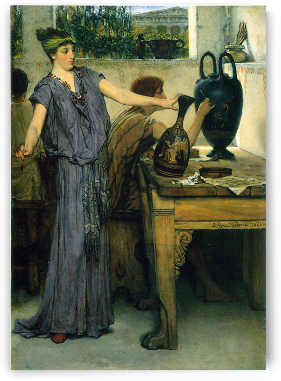 Pottery Painting by Alma-Tadema by Alma-Tadema
