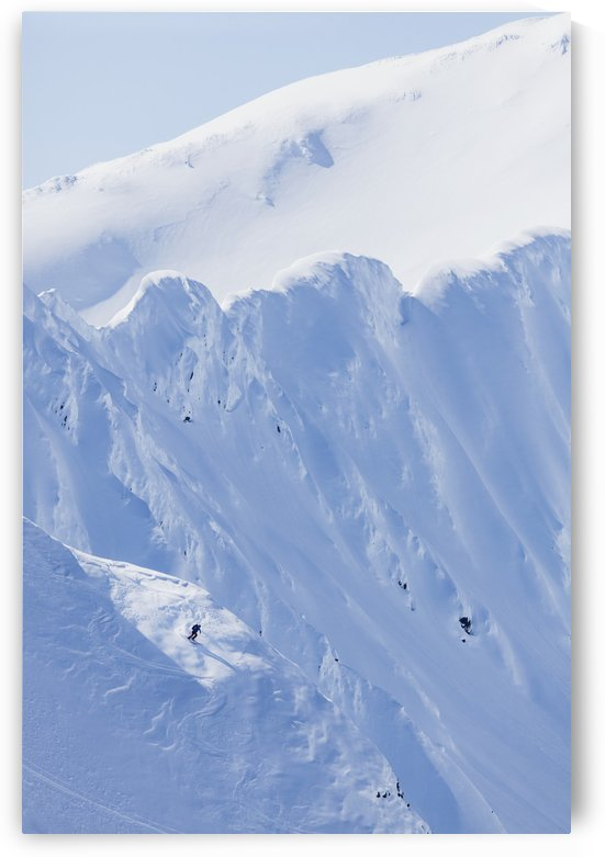 Backcountry Skiing In The Chugach Mountains In Late Winter; Southcentral Alaska, United States Of America by PacificStock