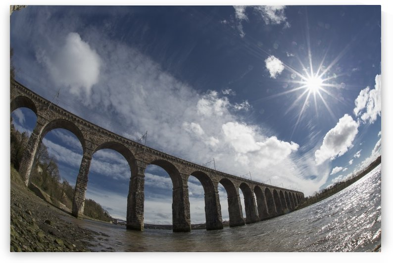 Royal Border Bridge Spanning River Tweed; Berwick-Upon-Tweed, Northumberland, England by PacificStock