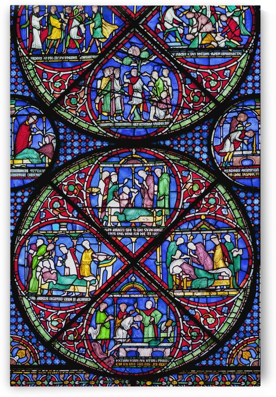 Colourful Stained Glass Window In Canterbury Cathedral; Canterbury, Kent, England by PacificStock