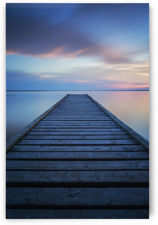 6 minute exposure of an old dock, Queen Elizabeth Provincial Park; Alberta, Canada by PacificStock