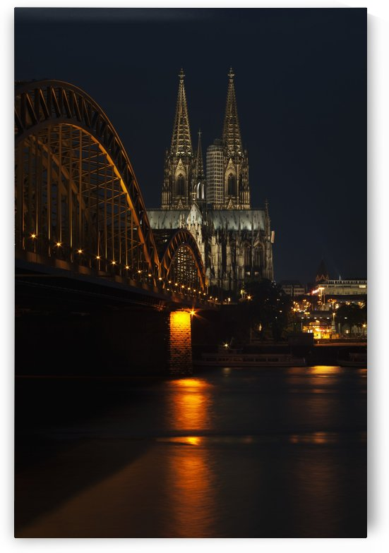 Hohenzollern Bridge over the River Rhine and Cologne Cathedral; Cologne, Germany by PacificStock