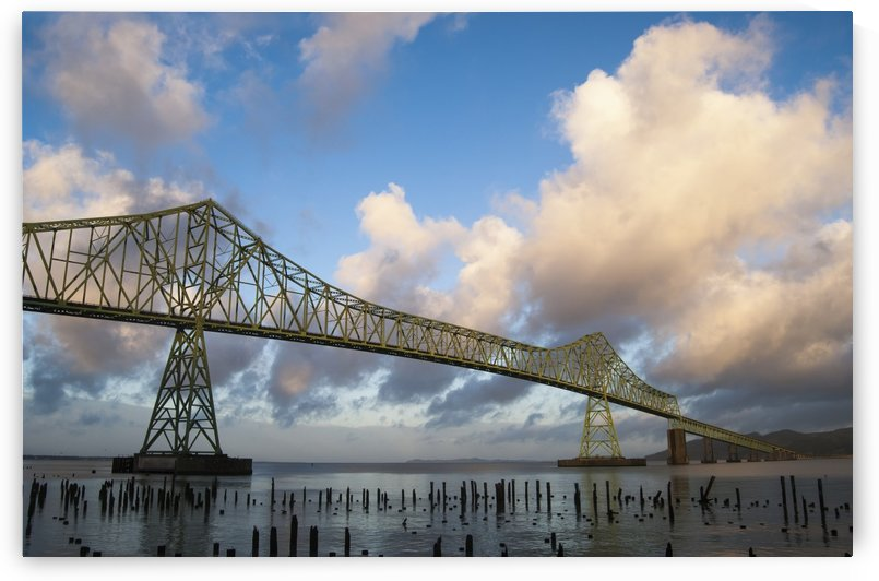 The Astoria-Megler Bridge, US Highway 101, spans the Columbia River at Astoria; Astoria, Oregon, United States of America by PacificStock