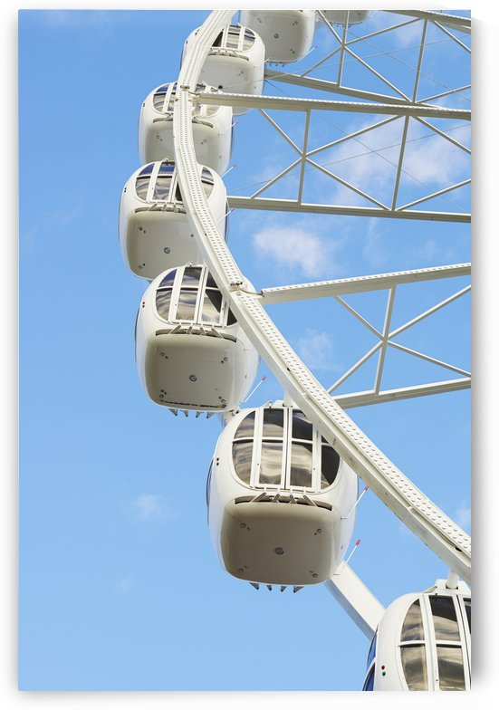Detail of ferris wheel in Divo Ostrov amusement park; St. Petersburg, Russia by PacificStock