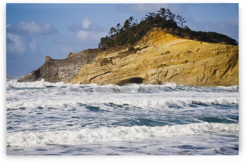 Winter storms erode the cliffs at Cape Kiwanda; Oregon, United States of America by PacificStock