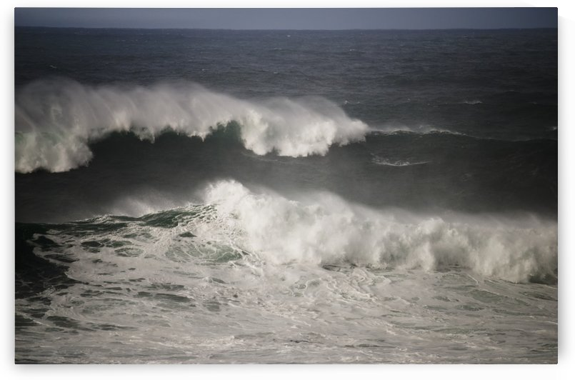 High surf breaks during the winter; Oregon, United States of America by PacificStock