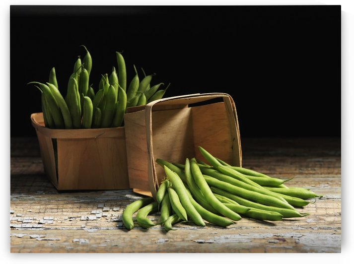 Green beans in baskets; Quebec, Canada by PacificStock