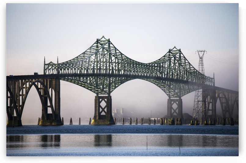 McCullough Bridge spans Coos Bay; North Bend, Oregon, United States of America by PacificStock