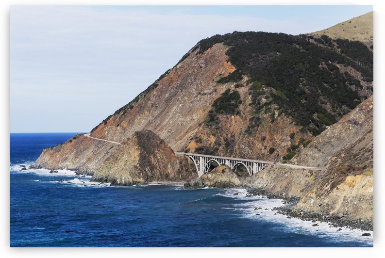 Big Creek Bridge from California Route 1 on the Big Sur Coast; Big Sur, California, United States of America by PacificStock