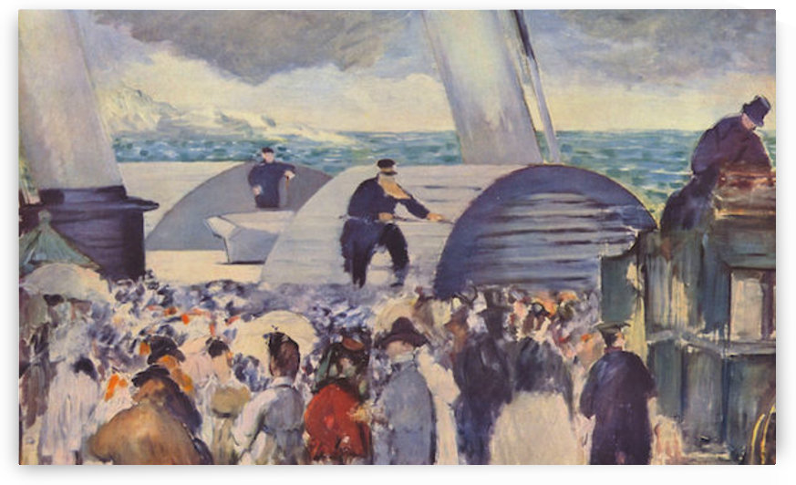 Embarkation of the Folkestone by Manet by Manet