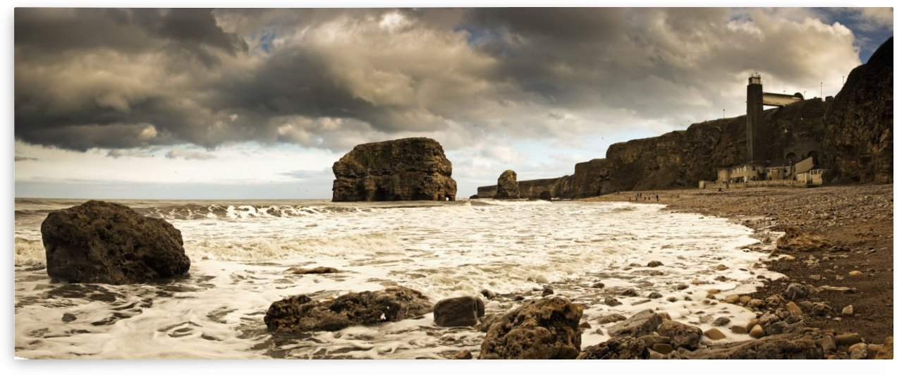 Tide along the coastline; South Shields, Tyne and Wear, England by PacificStock