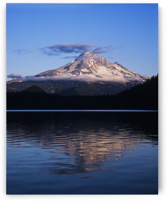 Mount Hoods looms over Lost Lake; Hood River, Oregon, United States of America by PacificStock
