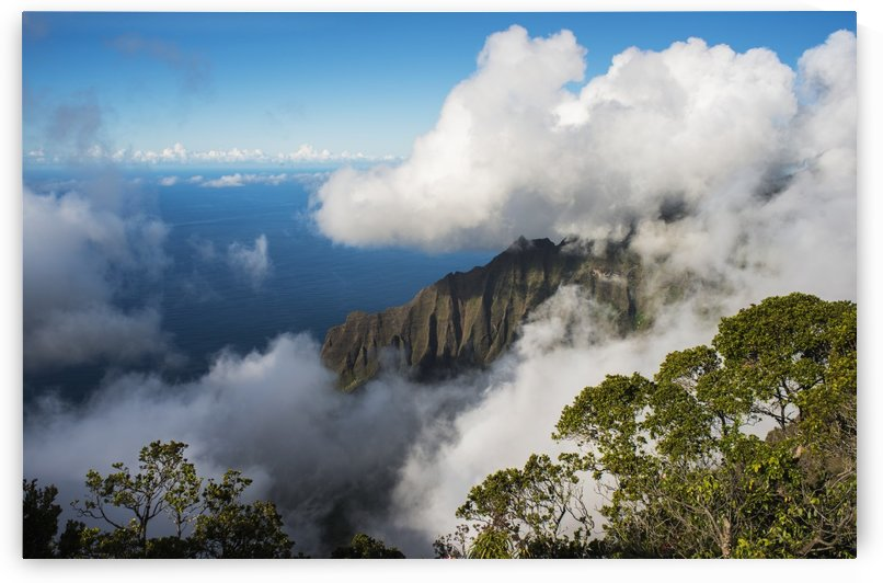 A spectacular view materializes out of the mist; Kalalau, Kauai, Hawaii, United States of America by PacificStock