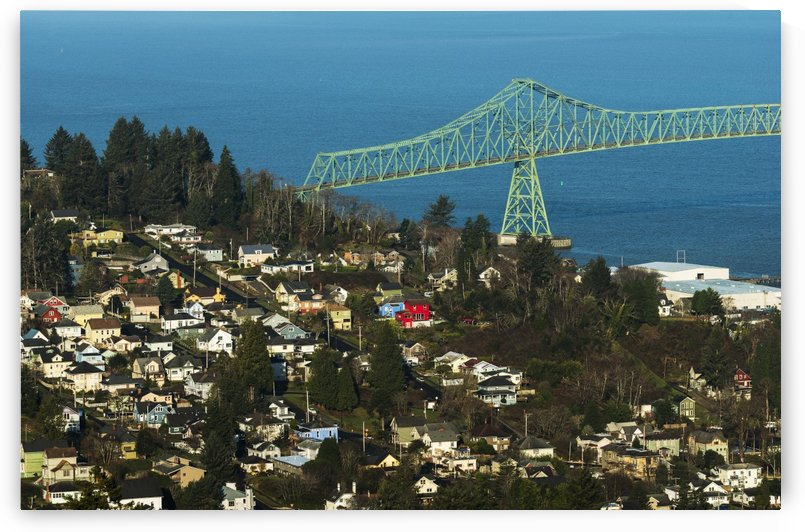 View of Astoria from Coxcomb Hill; Astoria, Oregon, United States of America by PacificStock