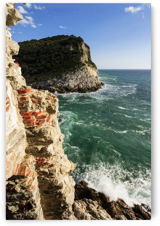 Cliffs along the coastline of the Italian Riviera; Porto Venere, Liguria, Italy by PacificStock