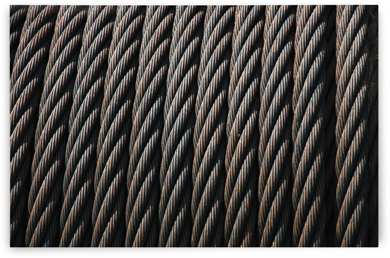 Steel cable makes patterns; Astoria, Oregon, United States of America by PacificStock