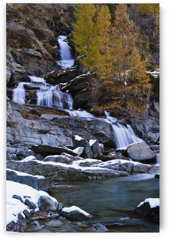 Lillaz waterfall; Cogne, Italy by PacificStock