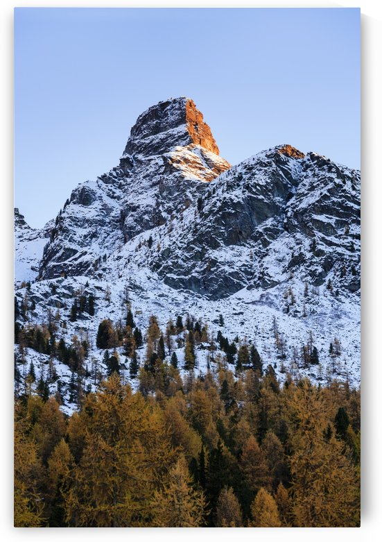Rugged mountain peak, Val D'ayas; Italy by PacificStock