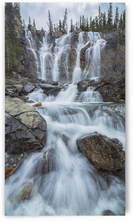 Tangle Creek waterfalls, Jasper National Park; Alberta, Canada by PacificStock