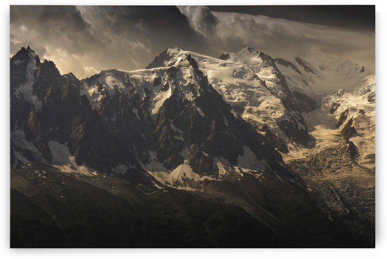 Aiguille du Midi and Mont Blanc, French Alps by Steve Thompson Sunstormphotography