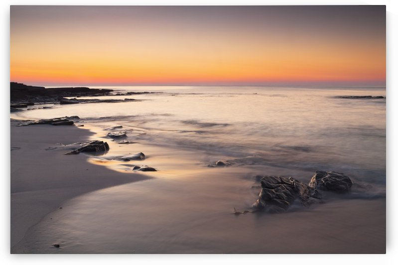 Grobust Beach at dusk; Orkney, Scotland by PacificStock