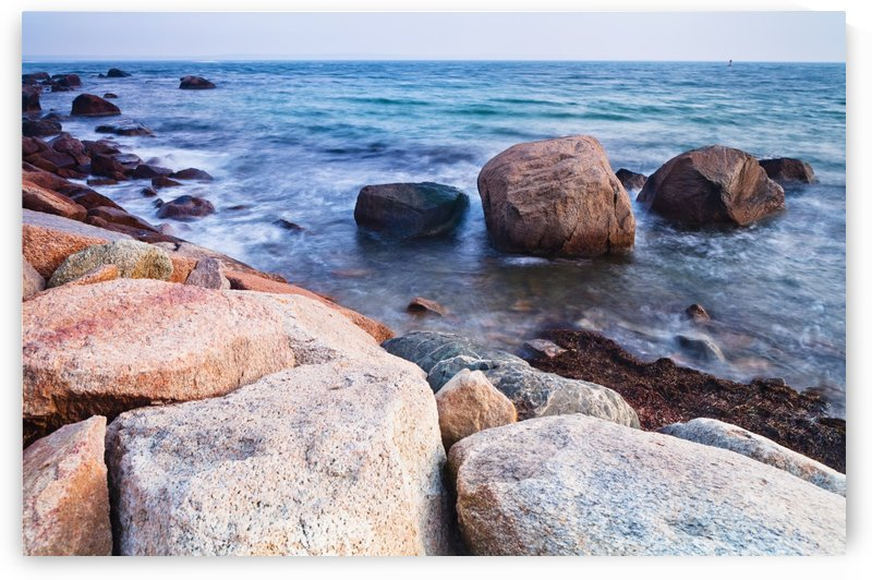 Rocks along the coastline; Falmouth, Massachusetts, United States of America by PacificStock