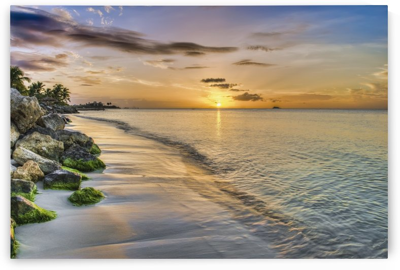 Sunset over Dickenson Bay; St. John's, Antigua, West Indies by PacificStock