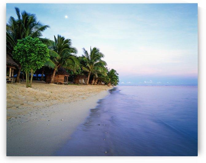 Tanu's Beach fales; Savaii Island, Samoa by PacificStock