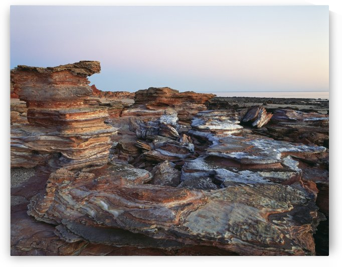 Gantheaume Point at sunset; Broome, Australia by PacificStock