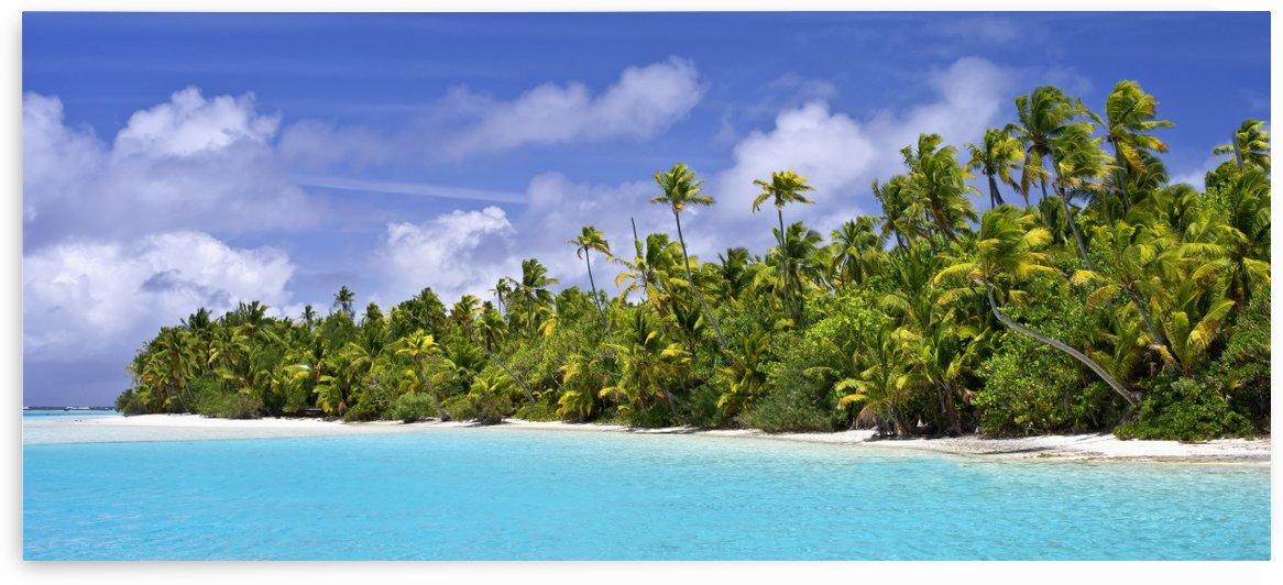 Remote island near Barefoot Island; Aitutaki, Cook Islands by PacificStock