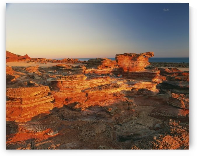 Gantheaume Point at sunset; Broome, Kimberley, Western Australia, Australia by PacificStock