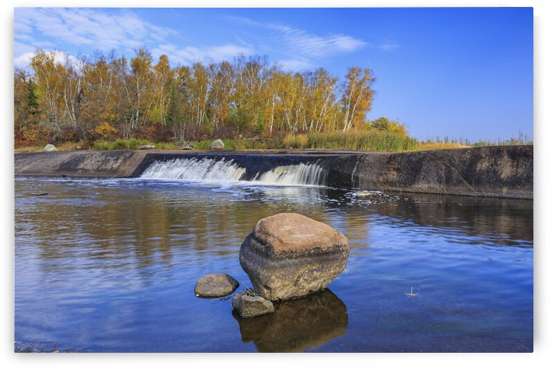 Rainbow Falls on the Whiteshell River in autumn, Whiteshell Provincial Park; Manitoba, Canada by PacificStock