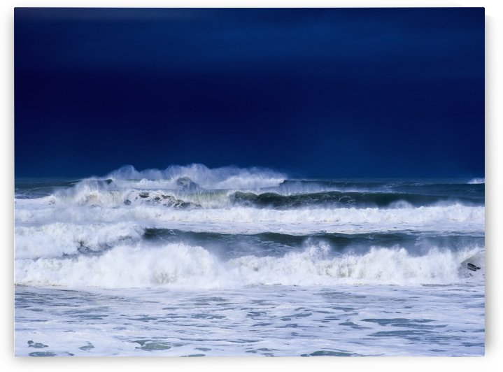 Stormy weather generates heavy surf; Winchester Bay, Oregon, United States of America by PacificStock