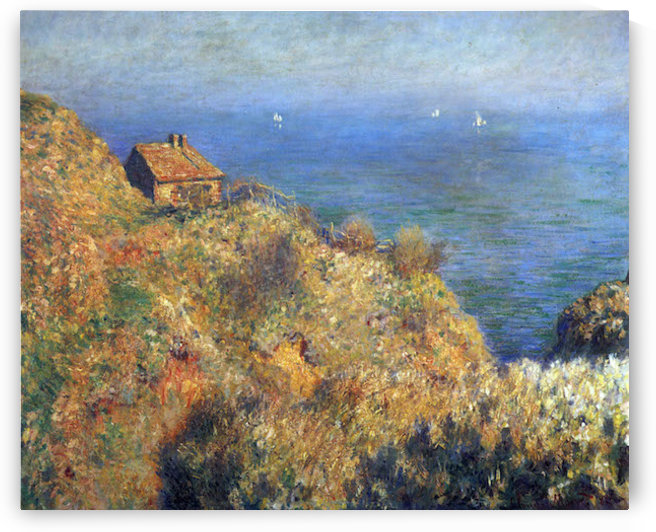 Fishermans lodge at Varengeville by Monet by Monet