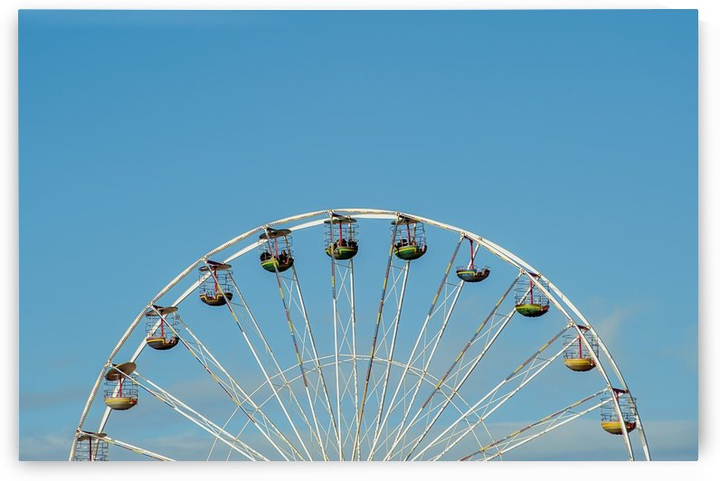 Ferris wheel at the Central Pier; Blackpool, England by PacificStock
