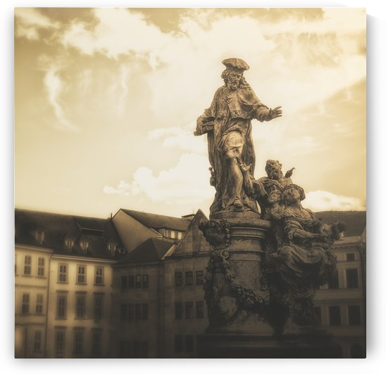 Statues along Karl Bridge; Prague, Czech Republic by PacificStock