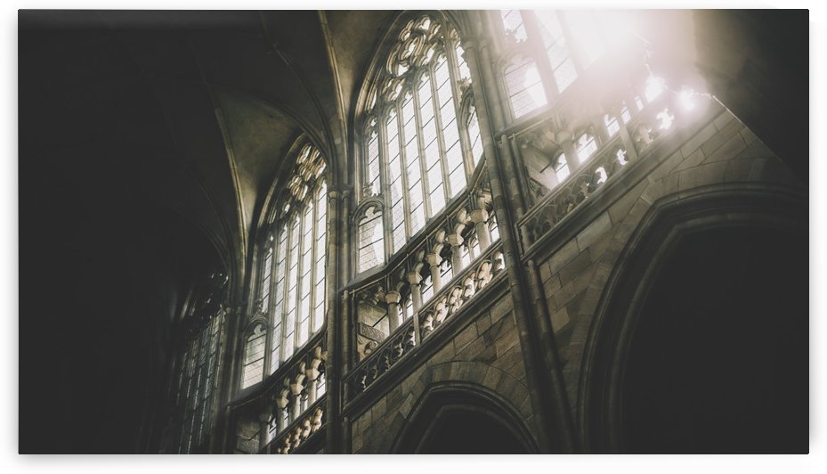 Daylight through the windows of St. Vitus Cathedral at Prague Castle; Prague, Czech Republic by PacificStock