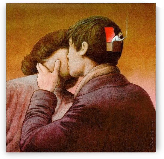 love - when the brain takes a break by Pawel Kuczynski